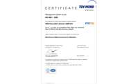 INNOTEK received ISO 9001:2008 by Tuvnord, Germany